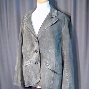 Coldwater Creek gray denim riding jacket size 18W